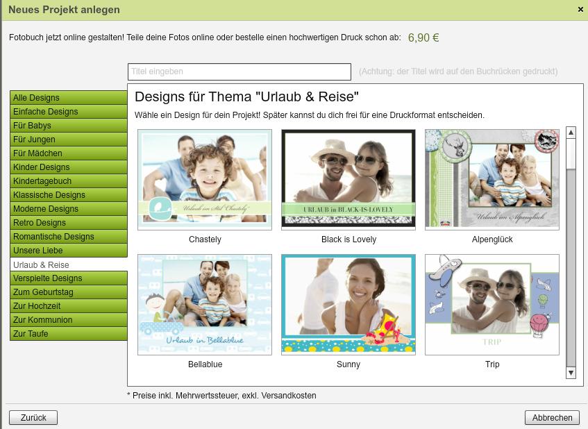FamBooks Designauswahl