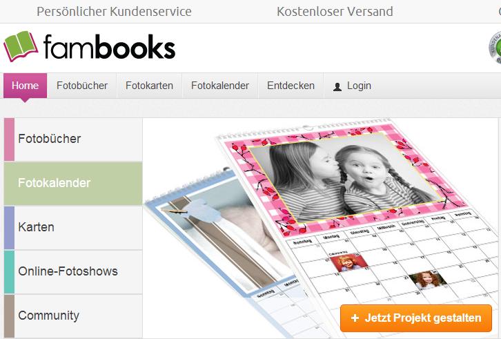 FamBooks Webseite