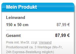 myposter Leinwand 150x50cm