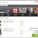 myphotobook-Fotosoftware - Startbildschirm