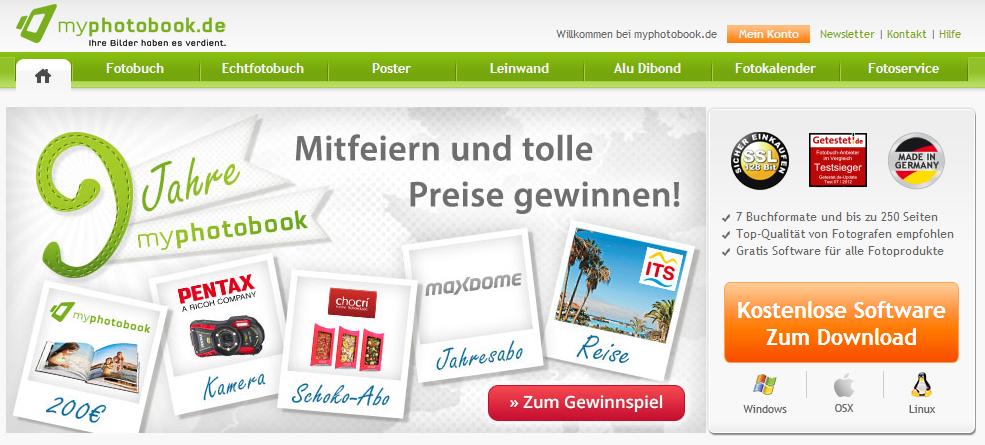 myphotobook.de - Homepage