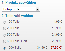 Fotopuzzle 1000 Teile Preis