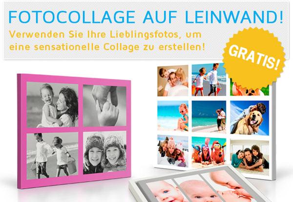 Werbebild HalloLeinwand Fotocollage